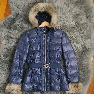 Juicy Couture Puffer Coat with Faux Fur
